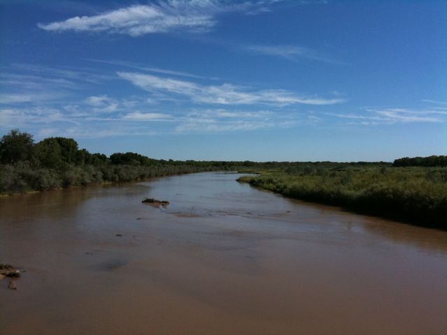 Rio Grande looking north from the Alameda Bridge in Rio Rancho
