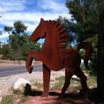 horse along Rio Grande Blvd