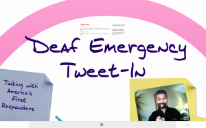 Does the Deaf Community need sign language interpretation for emergencies?