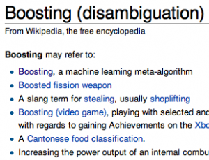 boosting-disambiguation