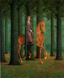 Riding Girl, by Magritte.