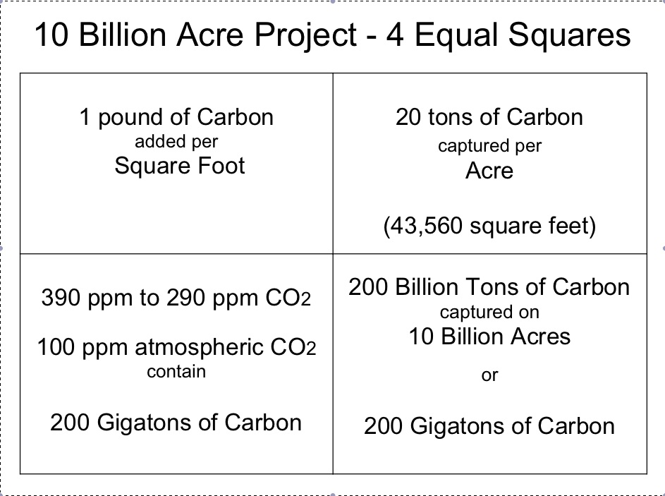 10 billion acres for grazing to heal the soil, capture carbon, and grow good food.