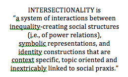 "Definition from Winter and Degele: ""Intersectionality as a multi=level analysis: Dealing with social inequality"""